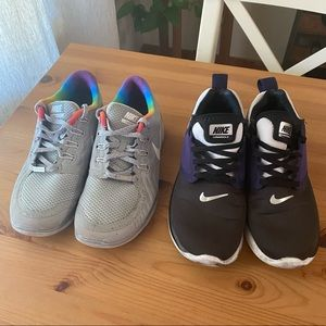 2 Nike shoes, Be True 2015 and Lunarsolo, 7